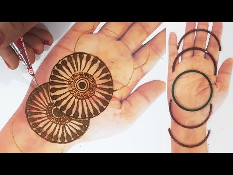 इस दिवाली सीखिए मेहँदी लगाने की नई ट्रिक चूड़ी से | New Full Hand Mehndi Design | BeautyZing