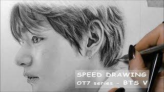 [SPEED DRAWING] 방탄소년단/BTS V - OT7 5th Anniversary series