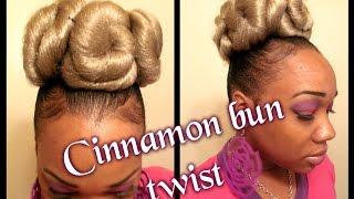 "How To"" Cinnamon Roll Twist Bunn"" (hair Tutorial)"