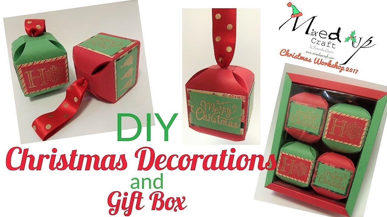 Christmas Box Decorations Part - 32: Christmas Workshop 2017 | DIY Christmas Decorations And Gift Box | Video  Tutorial