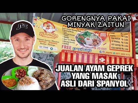 penjual-ayam-geprek-ini-asli-orang-spanyol-mirip-david-beckham---indonesian-street-foods