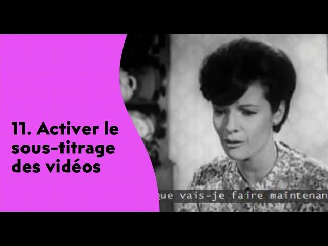 Activez le sous-titrage de vidéos