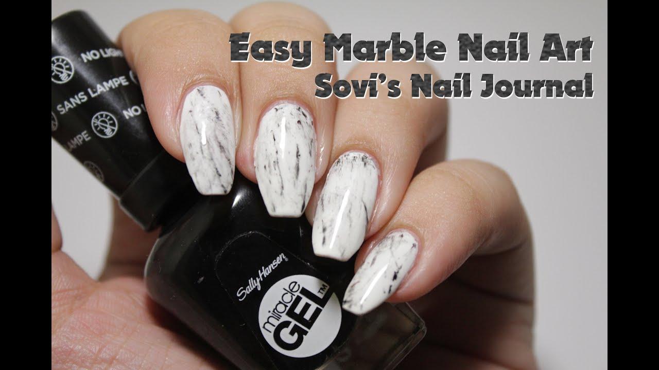 SUPER EASY MARBLED NAIL ART | Sovi\'s Nail Journal | Dingo Video ...