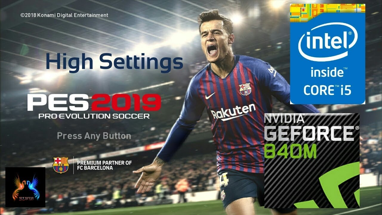 PES 2019 on GeForce 840M | Core i5 4210U High Settings