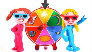 THE WHEEL OF FORTUNE WENT CREAZY ❤ SUPERHERO PLAY DOH CARTOONS FOR KIDS
