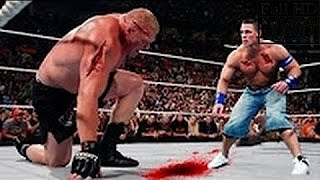 WWE John Cena Vs Brock Lesnar Full Match HD !!!