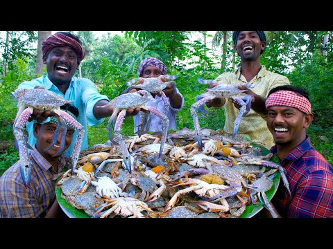 CRAB FRY | NANDU VARUVAL | Tasty Chettinad Crab Fry Recipe Cooking In Village | South Indian Food