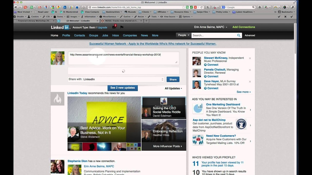 How To Share A Webpage On Linkedin (and Delete It Again!)