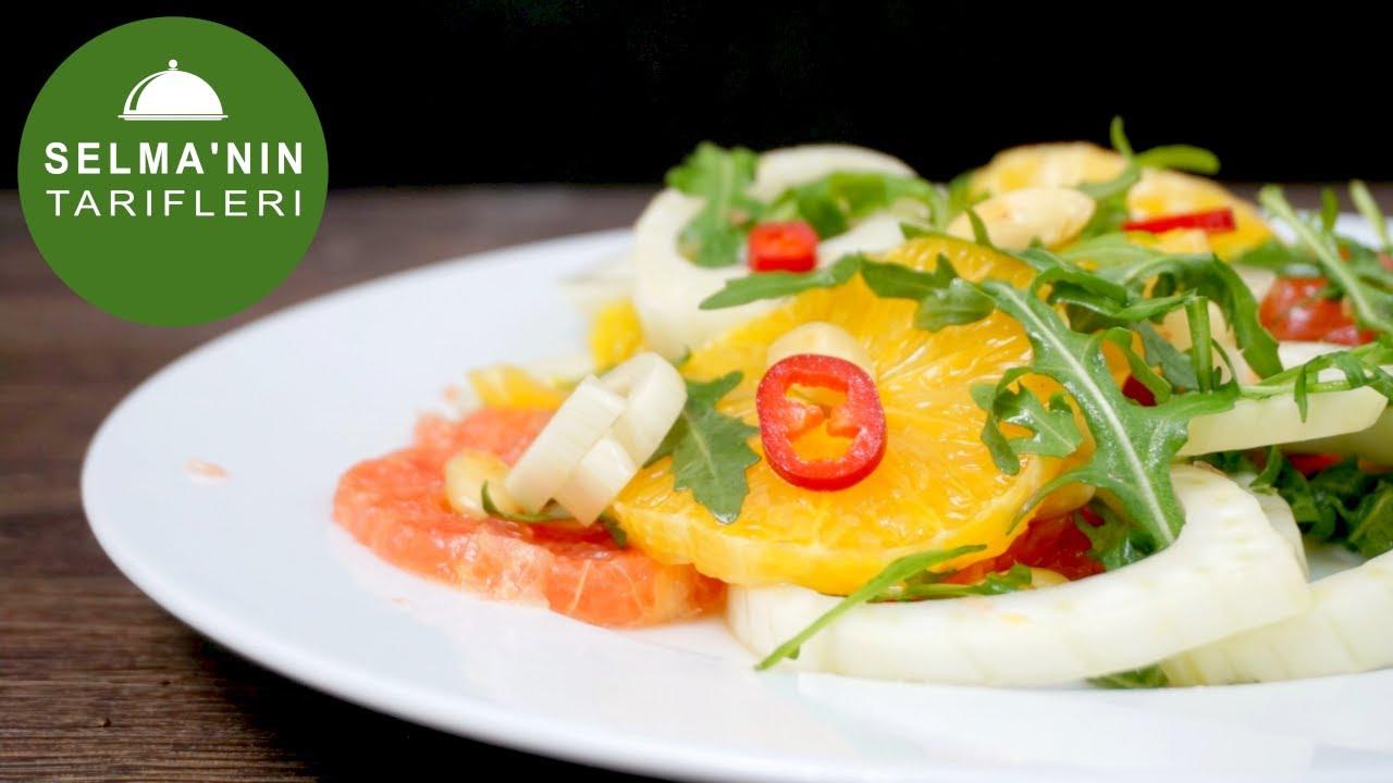 Rezene Narenciye Ispanak Salatası | Şemsa Denizsel