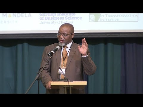 Honourable Minister Gwede Mantashe addresses the National Forum for Dialogue.