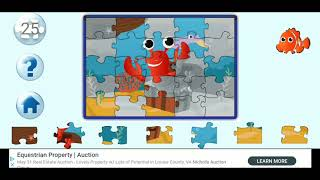 Educational Lobster Fun Jigsaw Puzzle Video For Kids Apps Gameplay