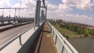 Biking across the Triboro Bridge from Queens into Manhattan