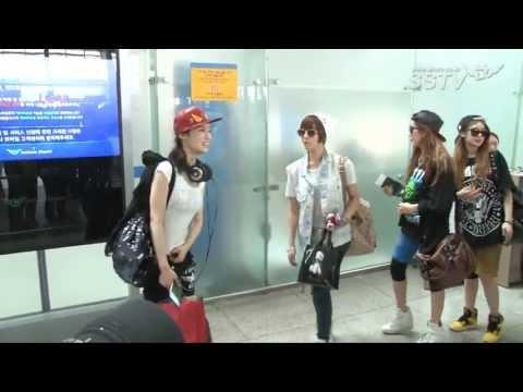 """[SSTV] 티아라엔포 미국 출국, 개성 넘치는 공항패션 """"잘 다녀올게요"""""""