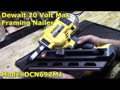 Dewalt 20 Volt Max Cordless Framing Nailer Review by @GettinJunkDone