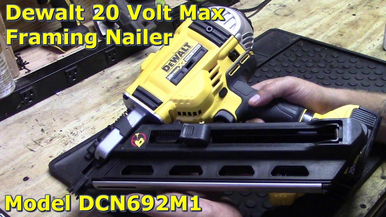 86b0f6b14da Dewalt 20 Volt Max Cordless Framing Nailer Review by  GettinJunkDone ...