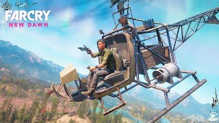 PISTOL OUTPOST LIBERATION FROM A HELICOPTER STEALTH in Far Cry New Dawn!