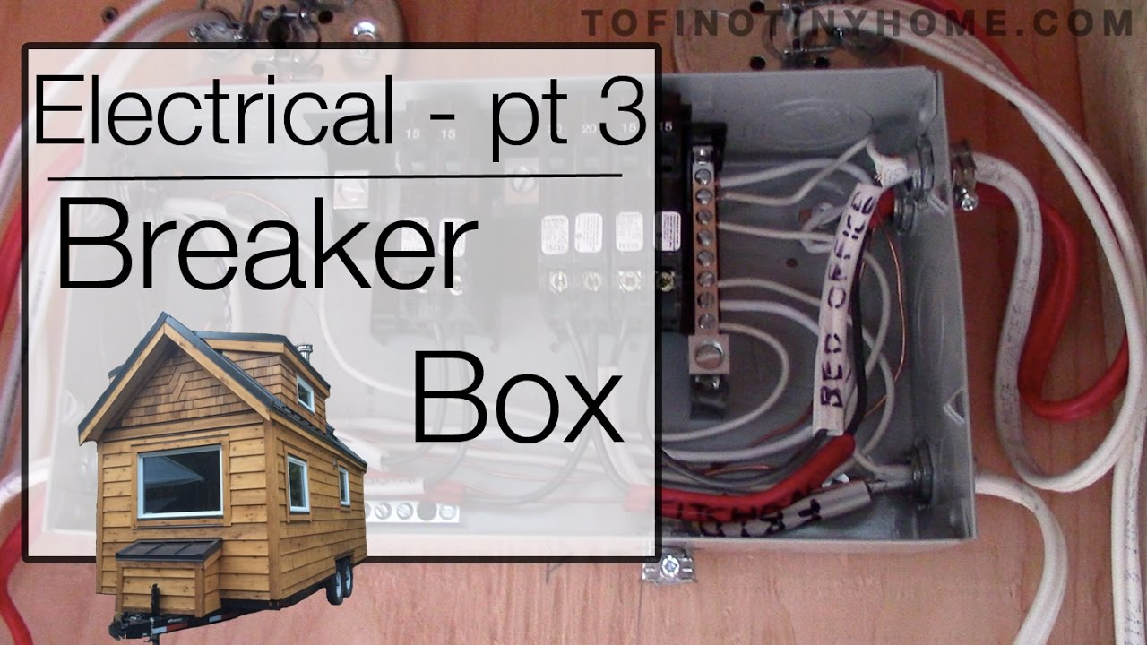 Electrical Pt 3 Installing The Tiny House Breaker Panel Youtube Circuit Wiring Diagram Consumer Unit On Wire Gfci