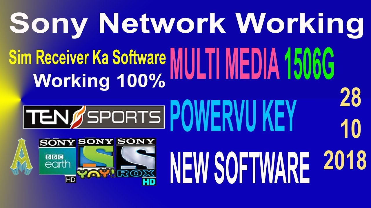 Good News  1506G New Software Multi Media Powervu Key Sony Network Working  100% Update with Proof  