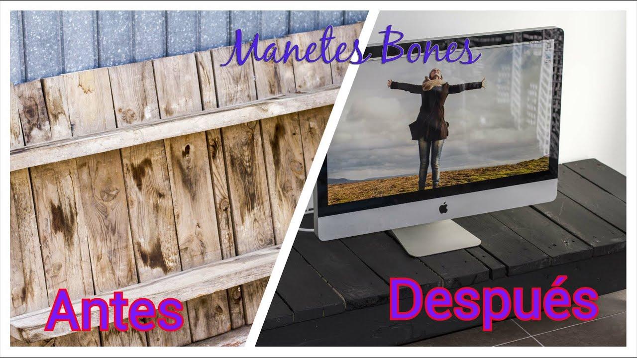 De palet a mesa de televisi n en 30 segundos bricolaje for Muebles para tv con tarimas