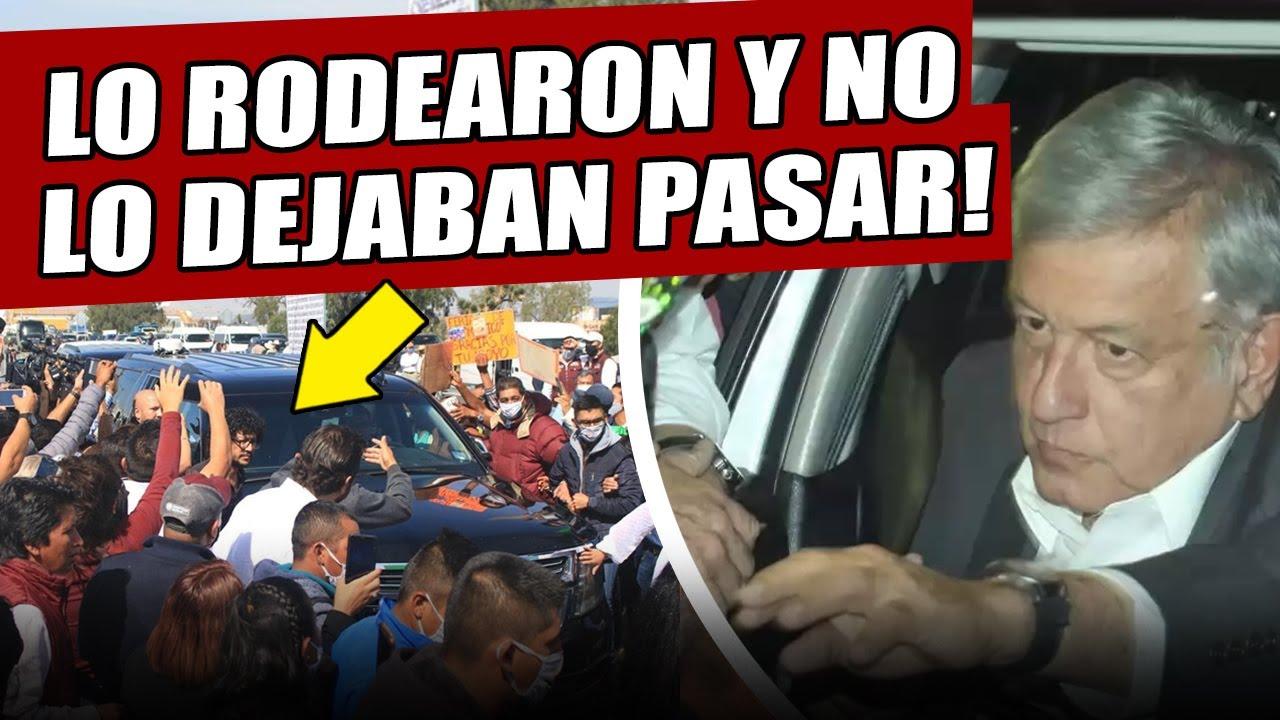 Acaba de pasar! Rodean vehículo de AMLO en Sinaloa, sorprendió a todos bajándose de su camioneta