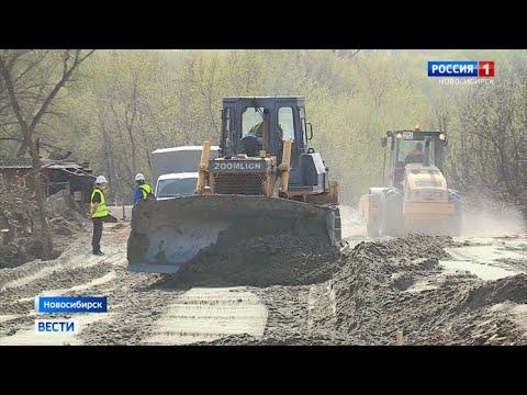 Левый берег Новосибирска в районе коммунального моста превратился в большую стройплощадку