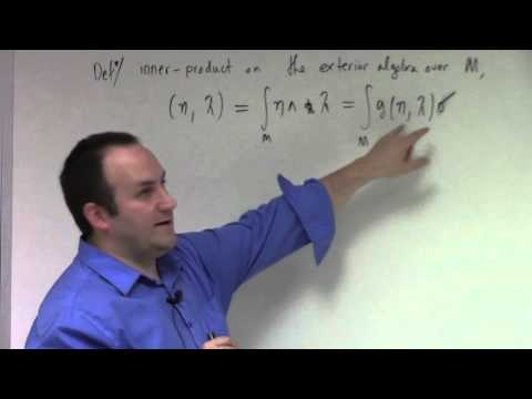 Advanced Calculus: Lecture 25 Part 1: Hodge theory, coderivative and Laplacian