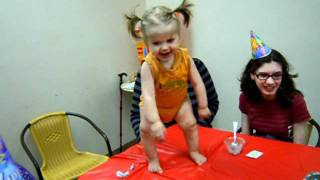 Birthday Party Table Dance! (Baby Kitsu's First Birthday)