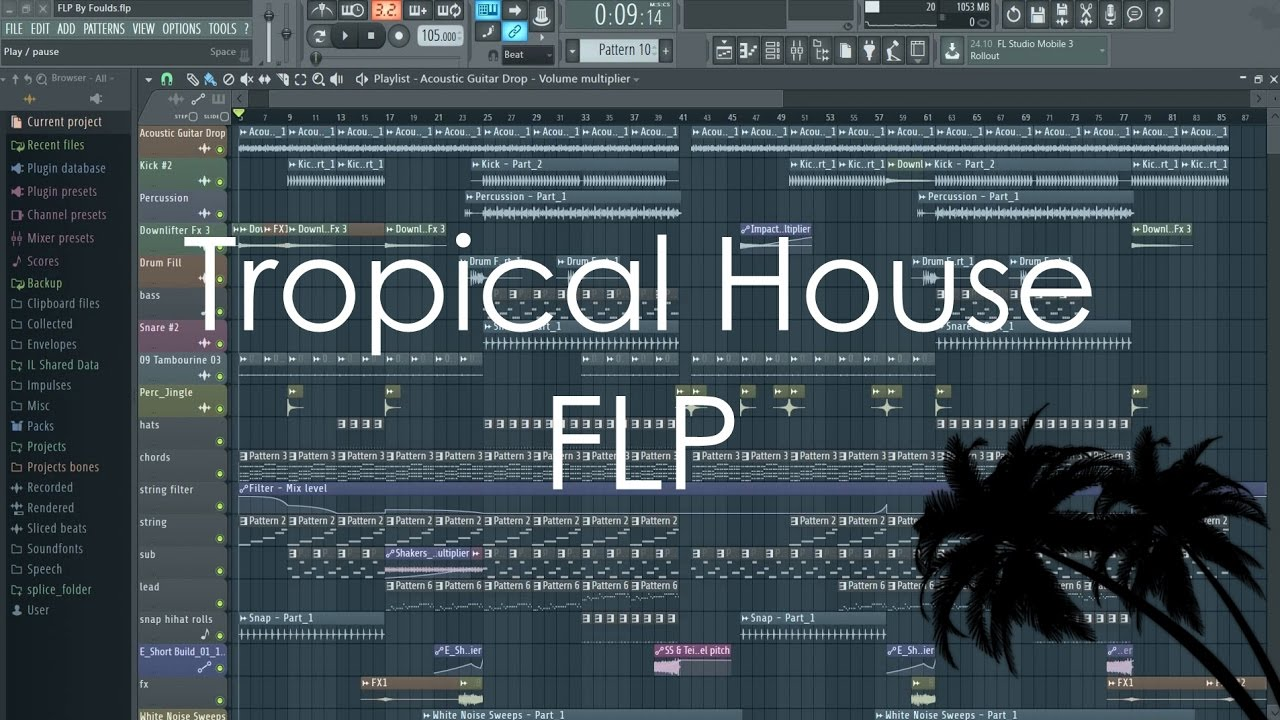 FREE Full Tropical House FLP Template (Kygo, Mike Perry Style)
