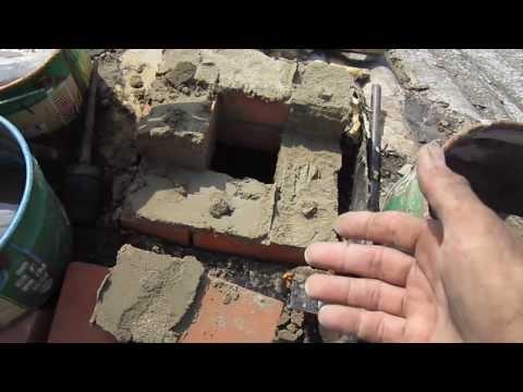 """Кирпичная труба на """"цементом"""" растворе"""