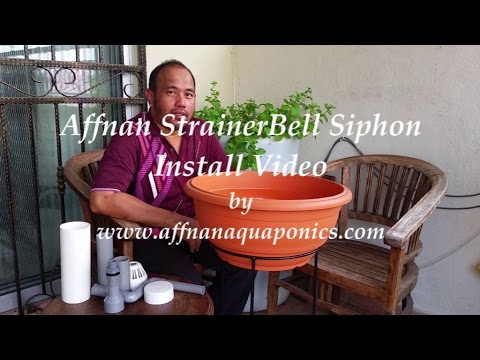 Basic Aquaponics - 20 mm StrainerBell Siphon Install Video