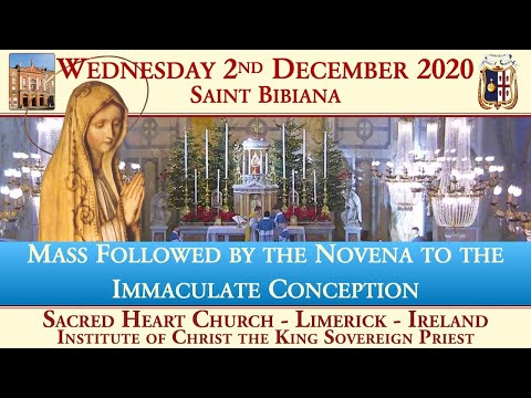 Wednesday 2nd December 2020: Saint Bibiana