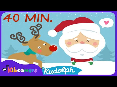 Rudolph The Red Nosed Reindeer Song + More | 40 Min. of Christmas Songs for Kids