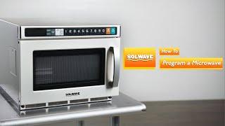Solwave Space Saver Microwaves: How to Program