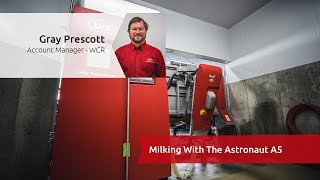 Milking with the A5 Astronaut - West Coast Robotics Learn With Lely