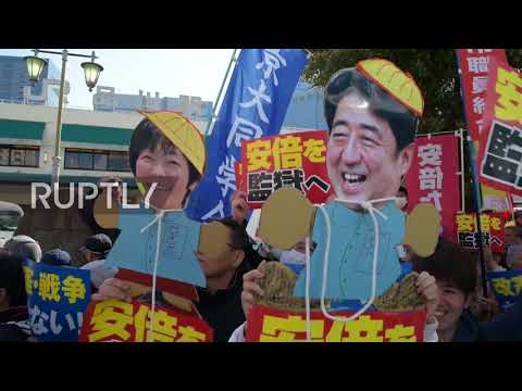 Japan: Anti-Abe protesters rally in Tokyo against pacifist constitution overhaul