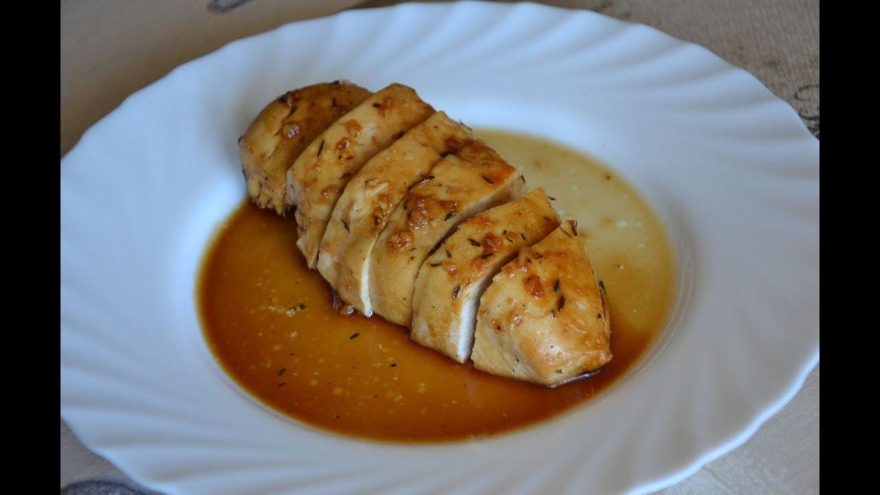 Pechugas de pollo con lim n miel y tomillo al horno youtube - Pechugas de pollo al limon ...
