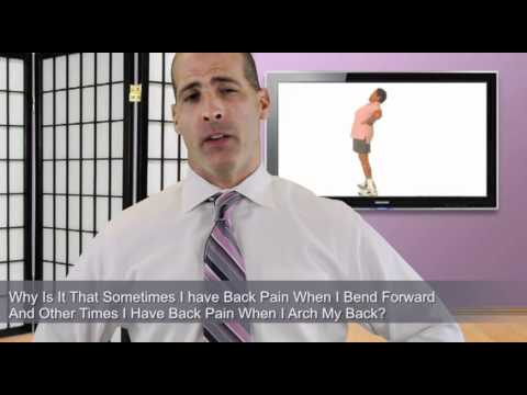 With Herniated Disc will I have back pain when I bend forward or arch my back?