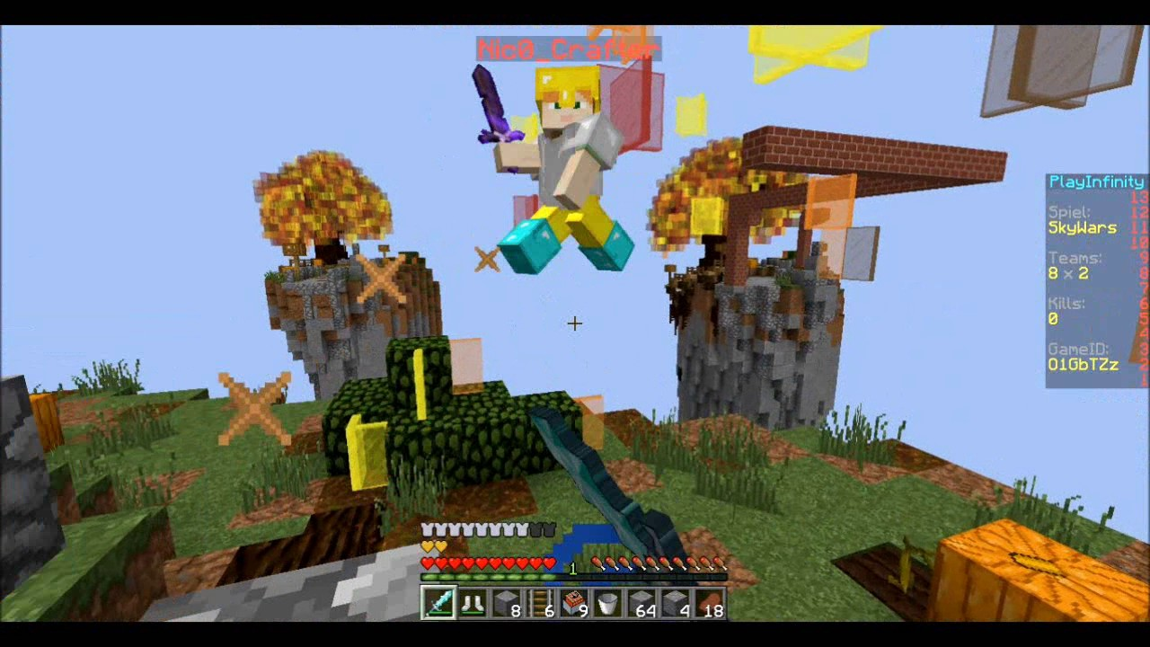 Minecraft Skywars Minigames Eine Komplizierte Runde YouTube - Minecraft skywars spiele