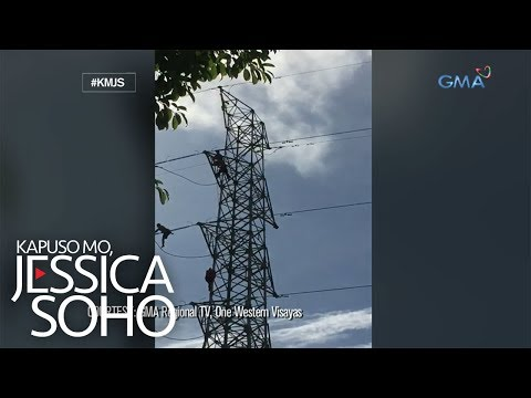 Kapuso Mo, Jessica Soho: Lalaki sa Iloilo, nahulog mula sa tore ng kuryente!