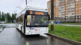 Первый взгляд на троллейбус УТТЗ-6241.01 «Горожанин» Чебоксары