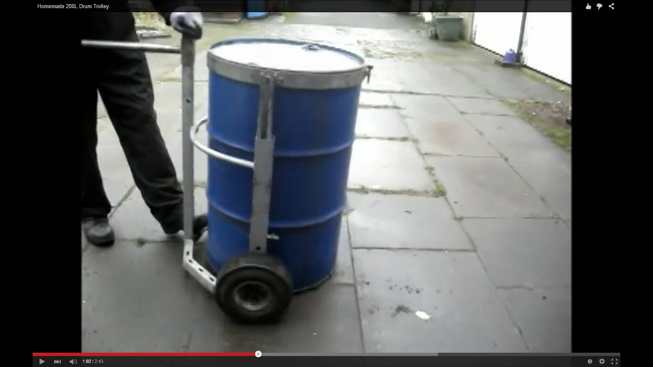 Homemade 200l Drum Trolley Youtube
