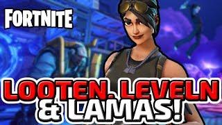 LOOTEN, LEVELN & LAMAS - ♠ FORTNITE #001 ♠ - Deutsch German - Dhalucard