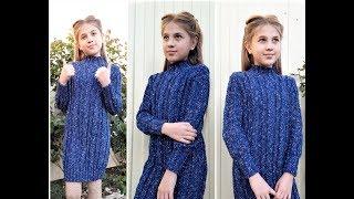 Стильное платье, для девочки подростка//ТЁПЛОЕ ПЛАТЬЕ СПИЦАМИ// Мастер Класс//