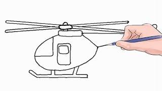 How to Draw a Helicopter Easy Step by Step