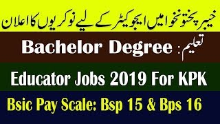 Elementary and secondary education kpk jobs 2019 | 20000 vacancies
