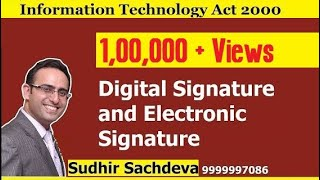 Information Technology Act 2000 || What is Digital Signature?
