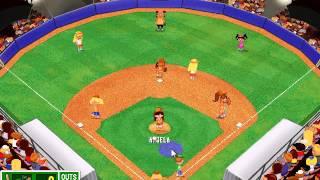 Backyard Baseball (PC) Gameplay - (Super Tournament Finals Game #1: Turtles @ Fishes)
