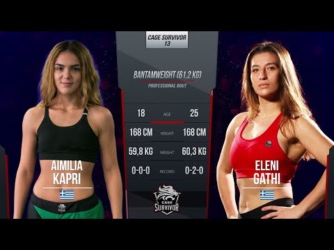 Cage Survivor 13: Aimilia Kapri vs. Eleni Gathi Full Fight