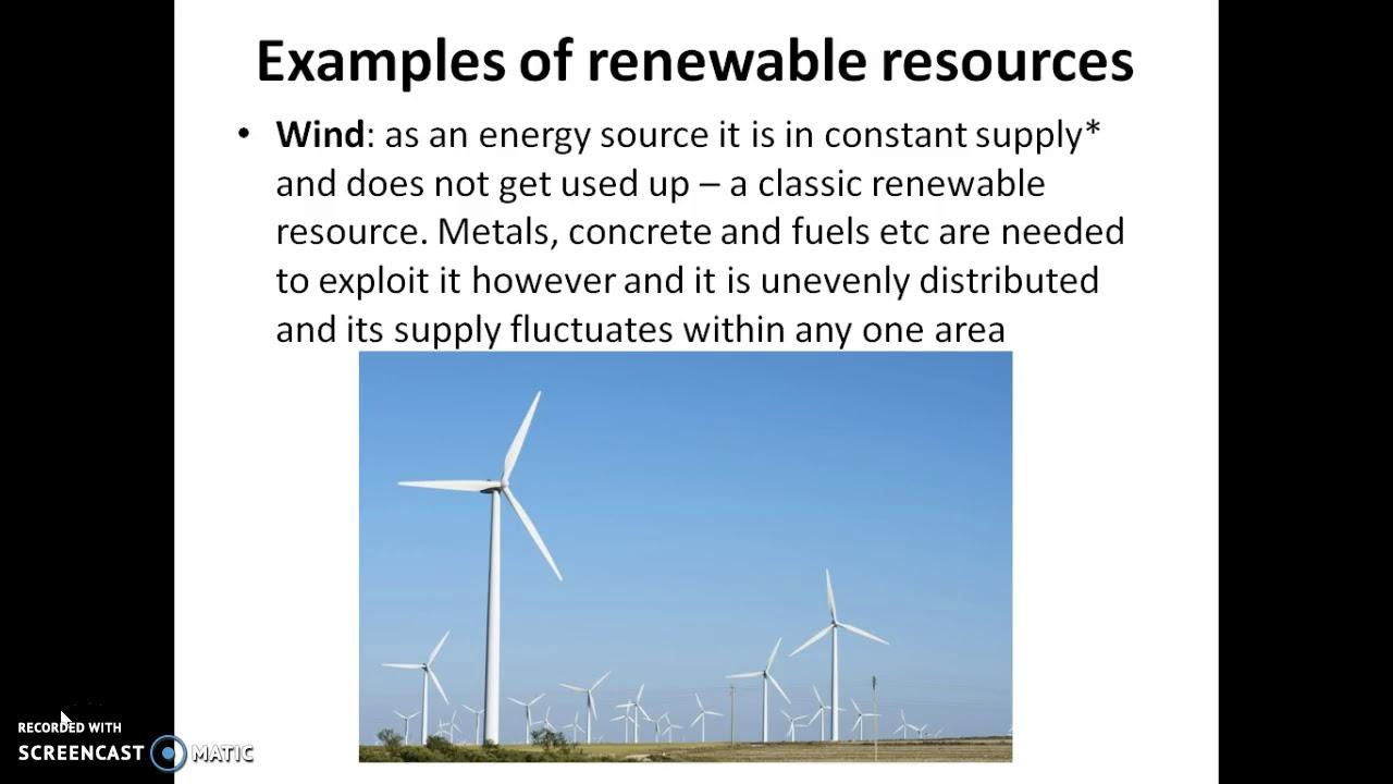 Renewable Vs Non Renewable Resources Youtube