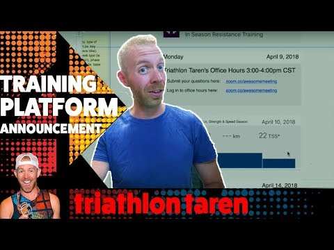 Team Trainiac TRAINING PLATFORM ANNOUNCEMENT for triathlon training